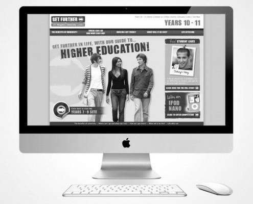 Website design for Kingston University by BLU:72 Creative - Nottingham