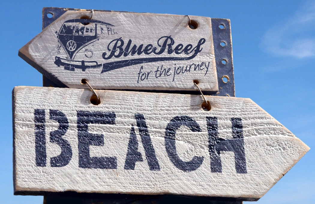Blue Reef sign by BLU:72 Creative Design Agency Nottingham