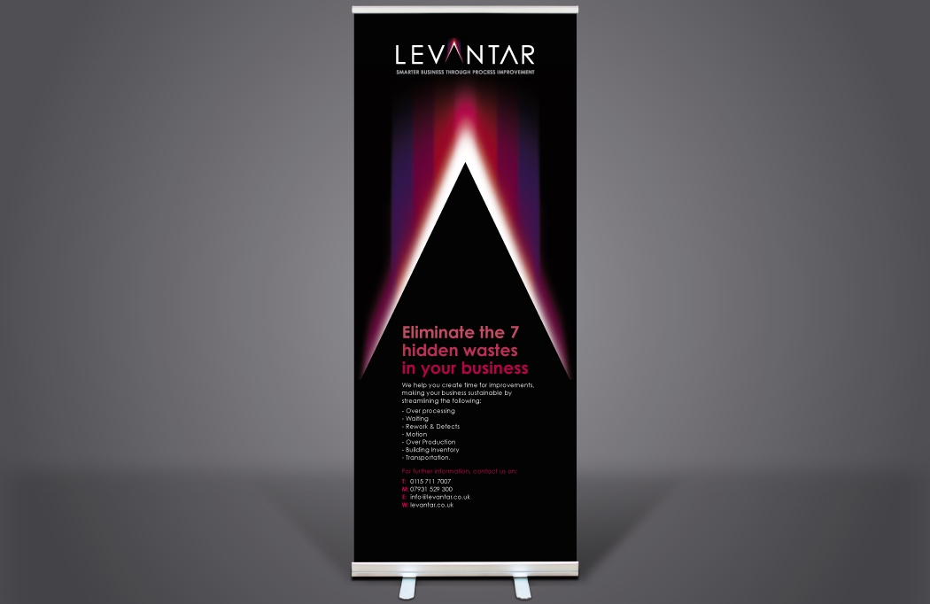 Pull-up banner design for Levantar by BLU:72 Creative