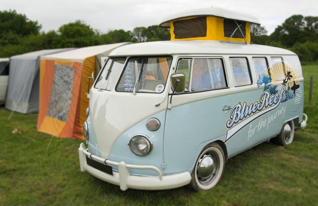 VW Camper van livery for Blue Reef designed by BLU:72 Creative