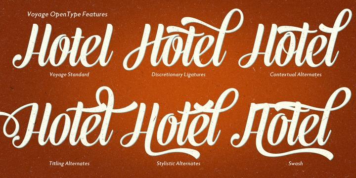 Cool new vintage script font