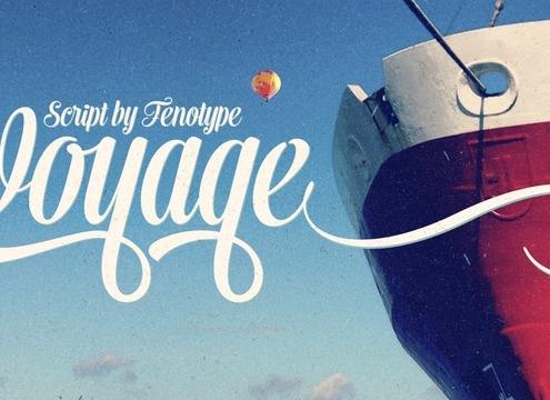 Voyage font image