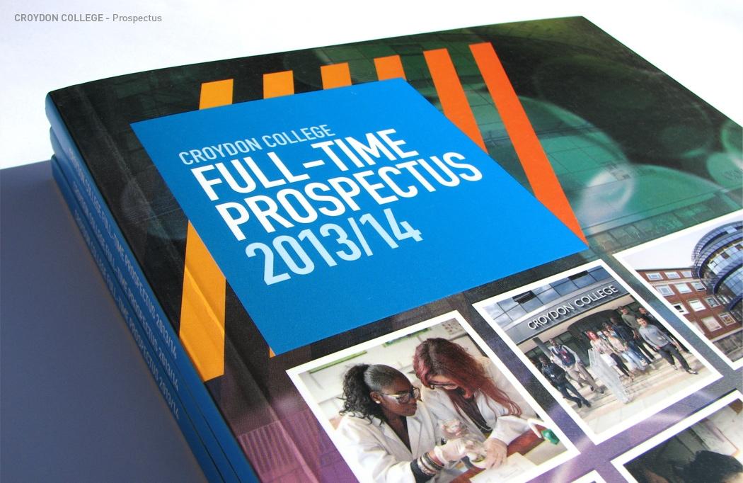 Prospectus design for Croydon College by BLU:72 Creative