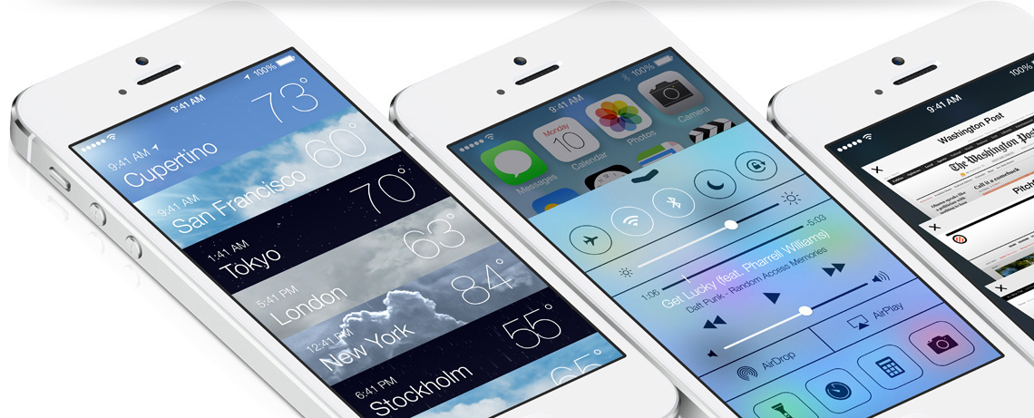 iOS 7 on the new iPhone 5