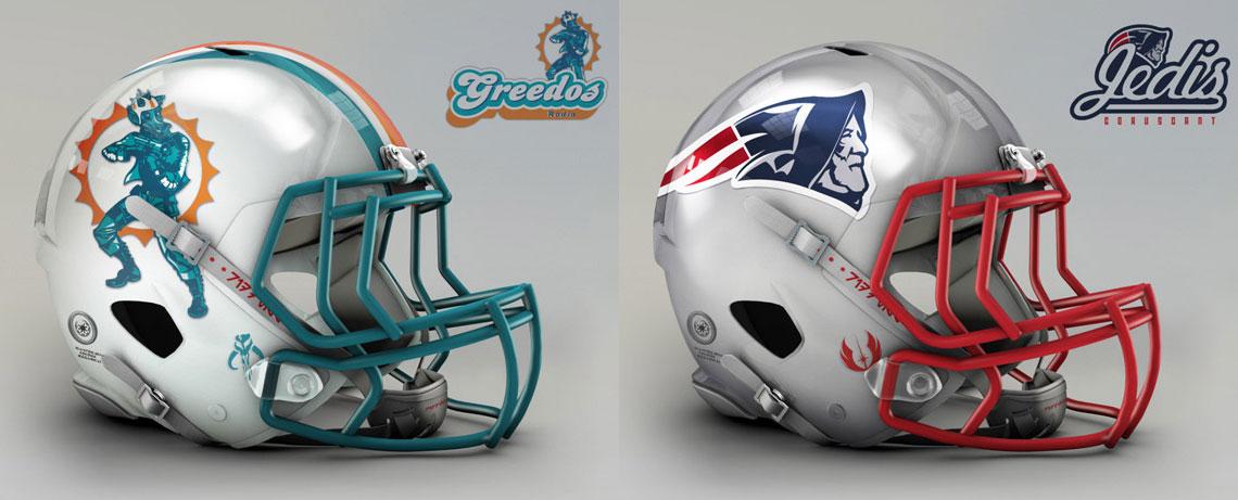 Star Wars characters as NFL teams