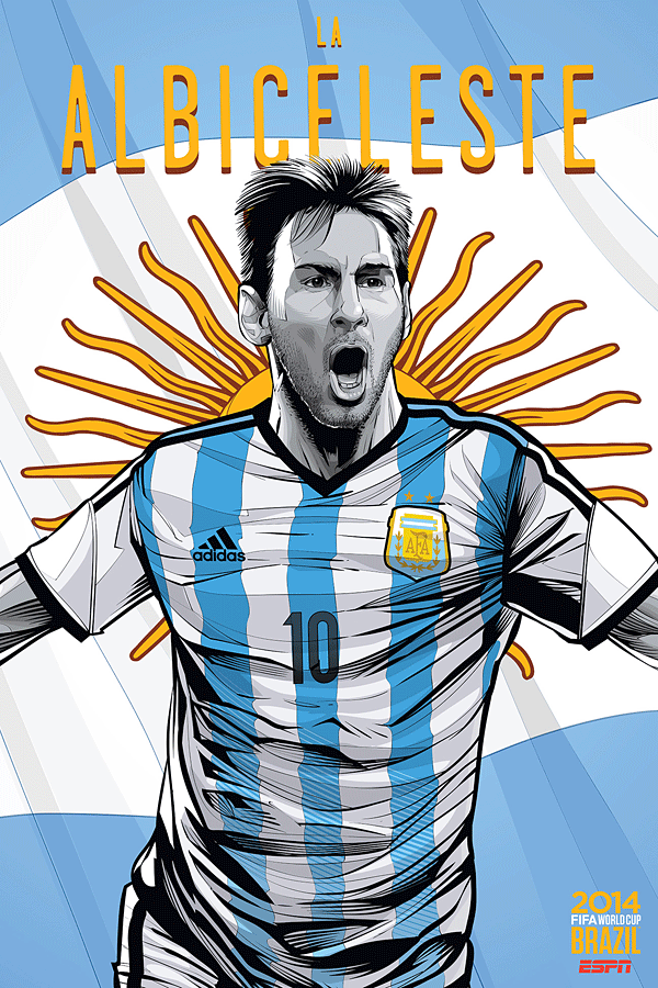 Argentina World Cup Illustration Poster