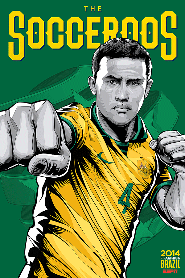 Australia World Cup Illustration Poster