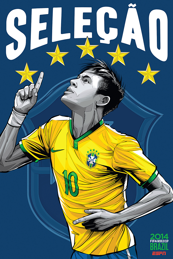 Brazil World Cup Illustration Poster