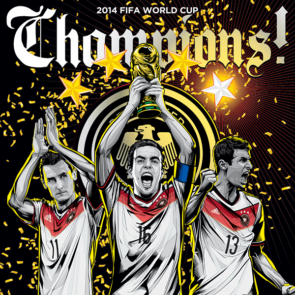 Germany World Cup Illustration Poster