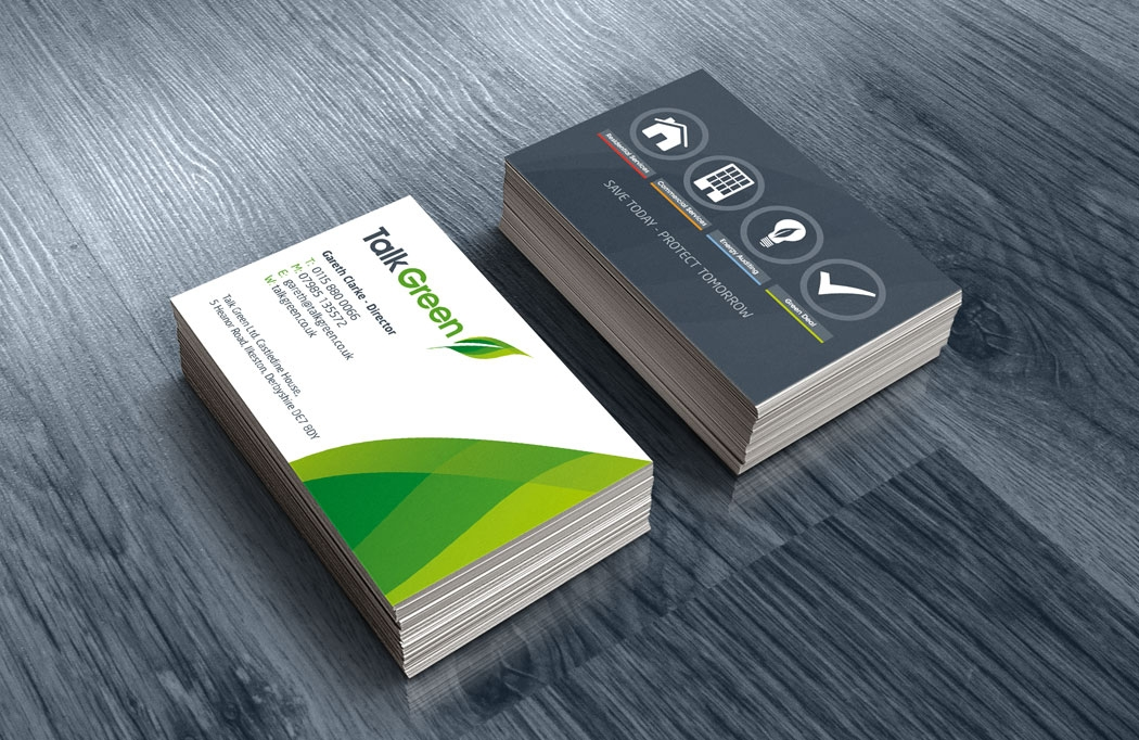 Business Card Design for Talk Green by BLU:72 Creative