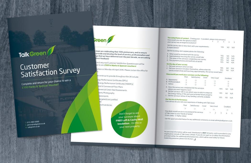 Talk Green leaflet design by BLU:72 Creative