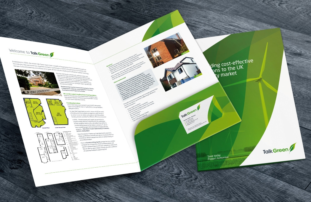 Folder design for Talk Green by BLU:72 Creative