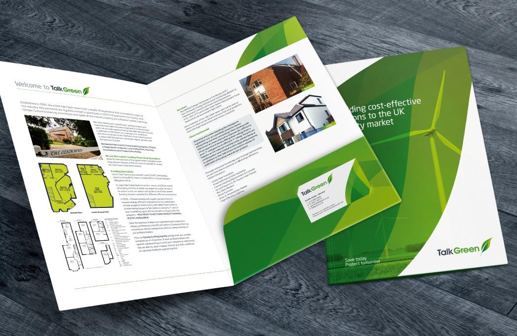 Folder design for Talk Green by BLU:72 Creative