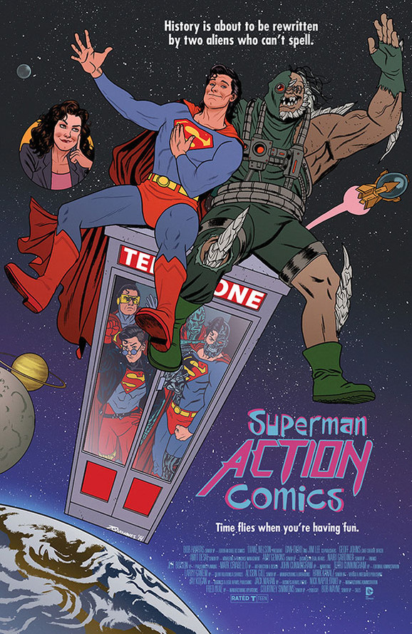 Superman Bill and Ted movie poster