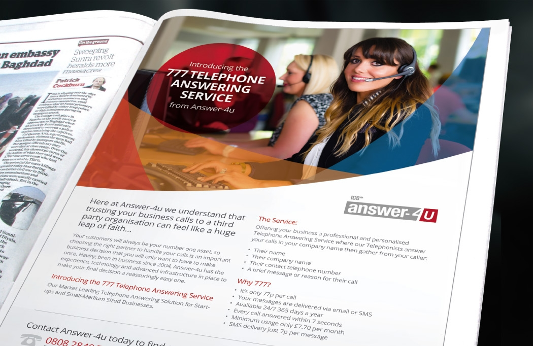 Brochure design for Answer-4u by BLU:72 Creative