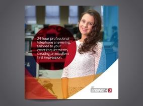 Brochure design for Nottingham based Answer-4u by BLU:72 Creative