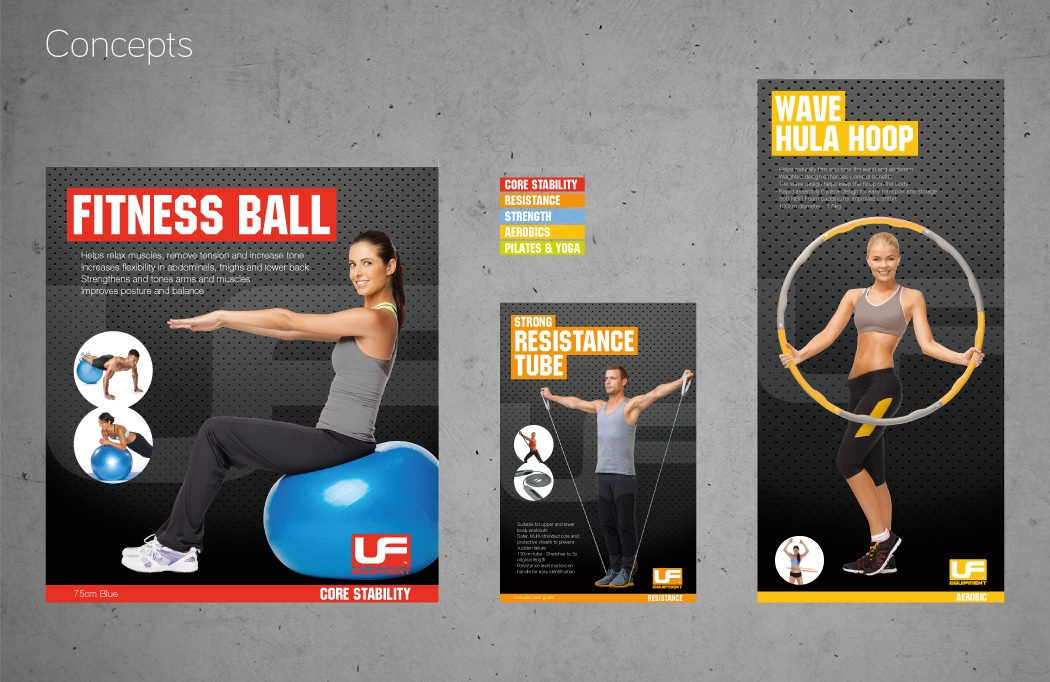 Packaging design concept for Urban Fitness Equipment by BLU:72 Creative