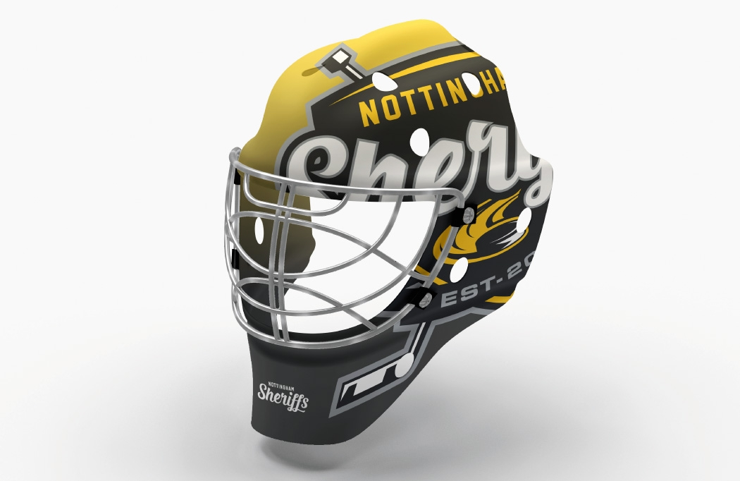 Helmet design for Nottingham Sheriffs - Ice Hockey Design