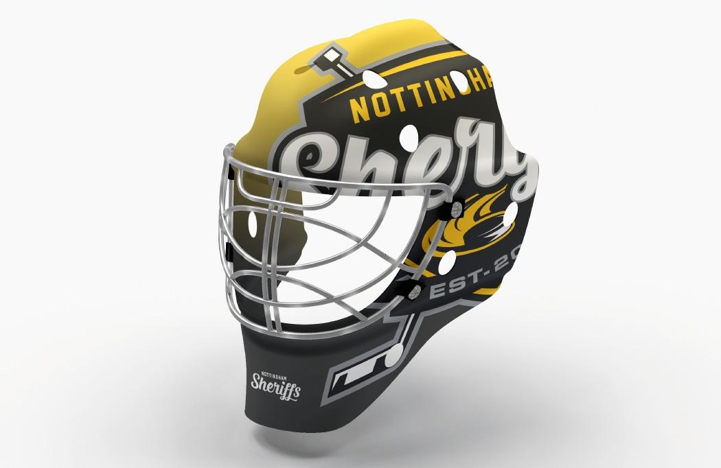Helmet design for Nottingham Sheriffs - Ice Hockey Design