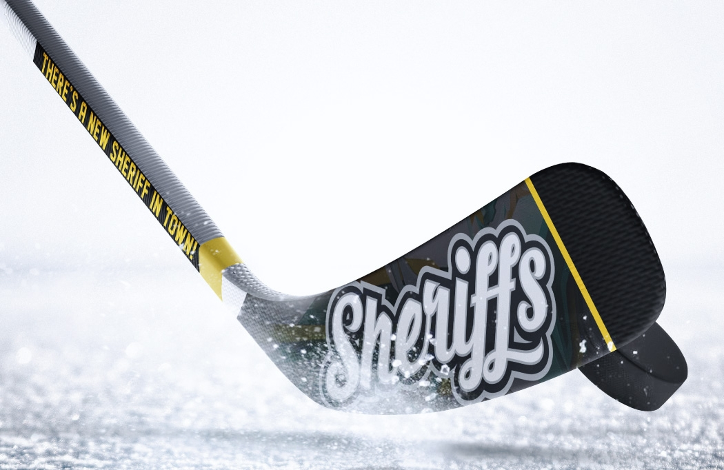 Stick design for Nottingham Sheriffs - Ice Hockey Design