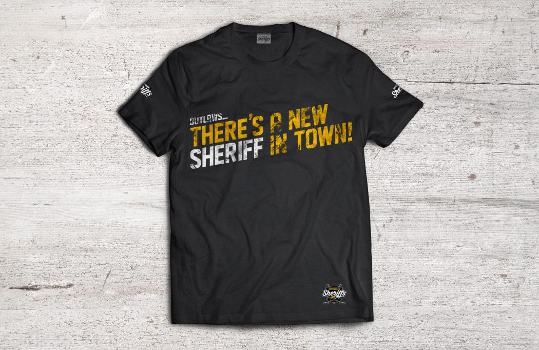 T-Shirt design for Nottingham Sheriffs - Ice Hockey Design