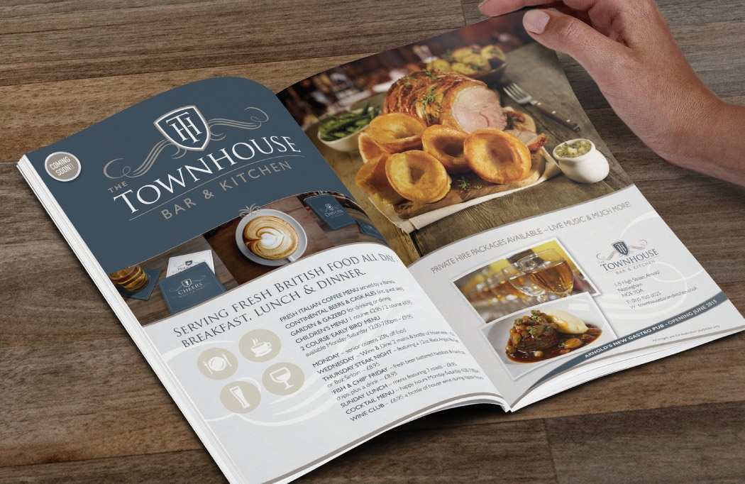 Advert design for The Townhouse by BLU:72 Creative