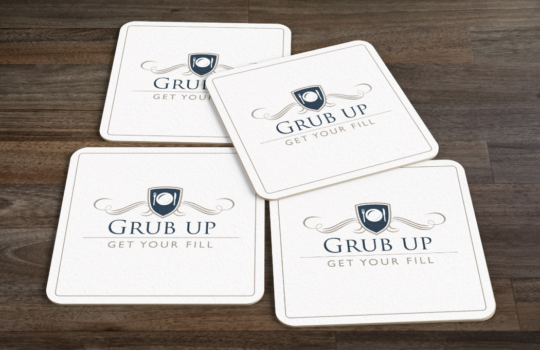 Beer mat design for The Townhouse by BLU:72 Creative