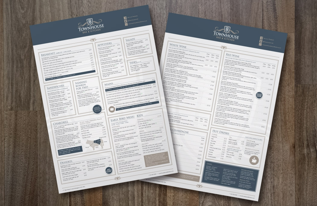 Logo design and branding - The Townhouse