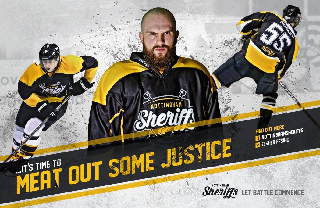 Graphic Design Nottingham - Design work for Nottingham Sheriffs Ice Hockey Club