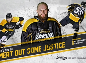 Graphic Design Nottingham - Design work for Nottingham Sheriffs Ice Hockey Club