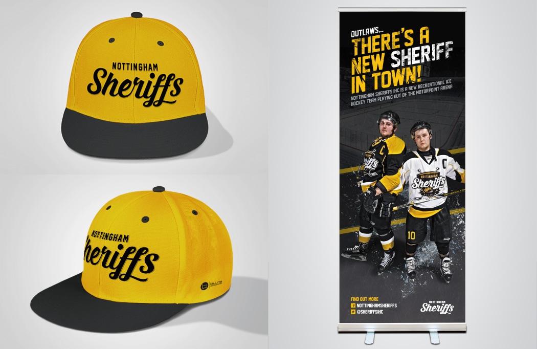 Cap & banner design for Nottingham Sheriffs - Ice Hockey Design