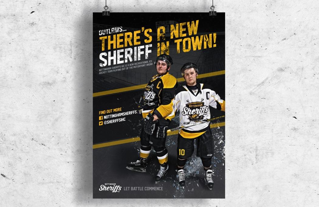 Poster design for Nottingham Sheriffs - Ice Hockey Design