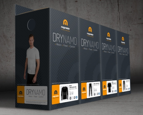 Packaging design for Megmeister DryNamo by BLU:72 Nottingham