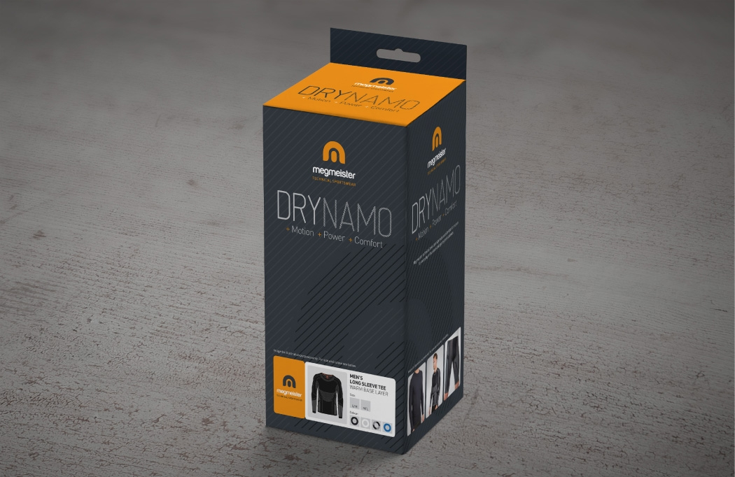 Packaging design for Megmeister DryNamo by BLU:72 Creative Design Agency Nottingham