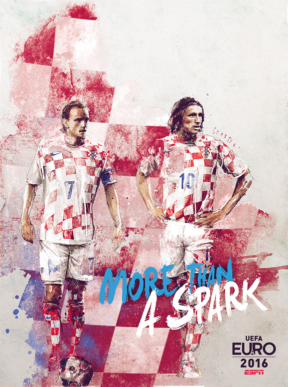 Euro 2016 illustrations Croatia