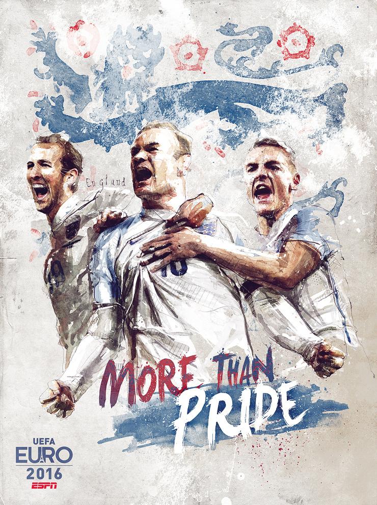 Euro 2016 illustrations England
