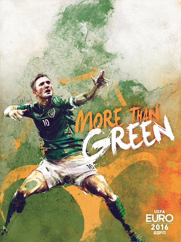Euro 2016 illustrations Ireland