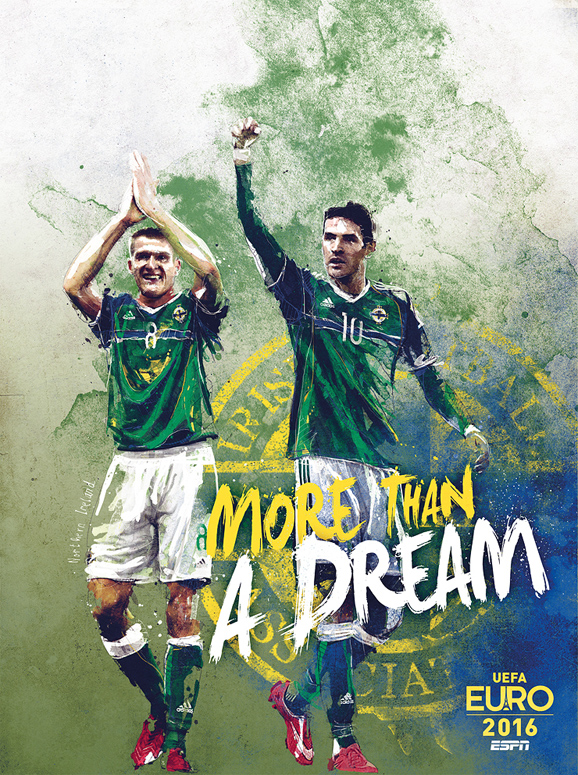 Euro 2016 illustrations Northern Ireland