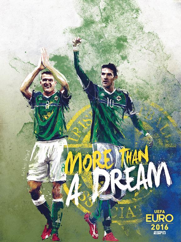 Euro 2016 illustrations Northern Ireland