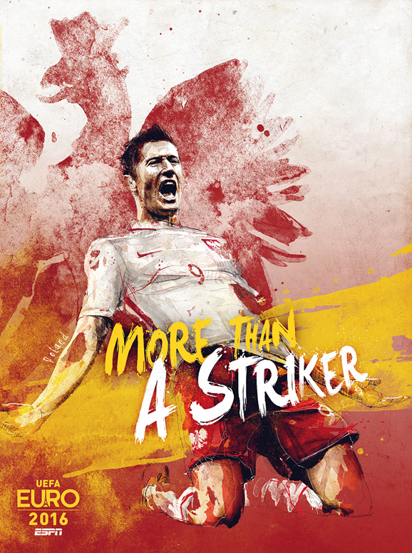 Euro 2016 illustrations Poland