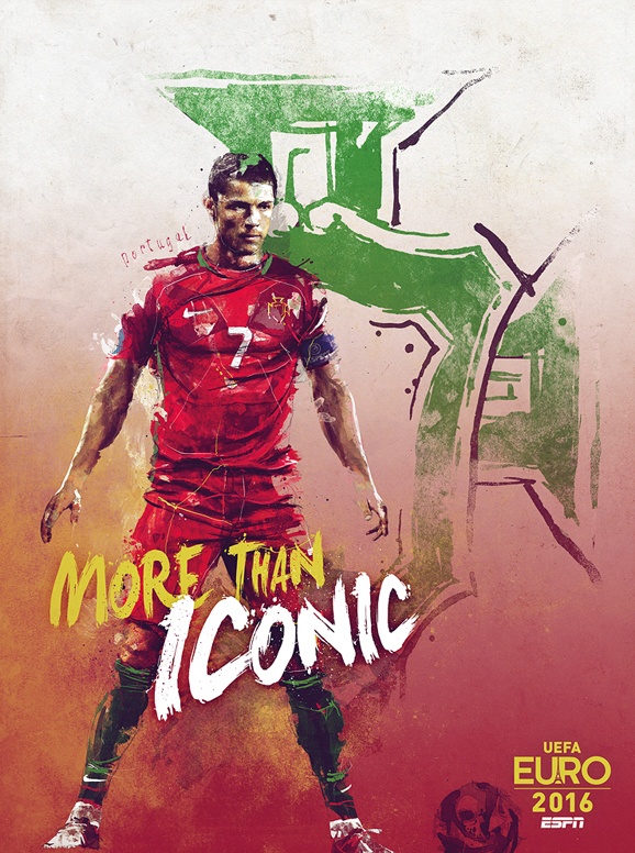 Euro 2016 illustrations Portugal