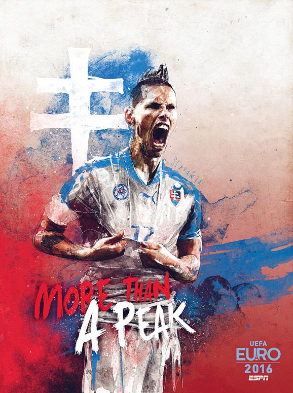 Euro 2016 illustrations Slovakia