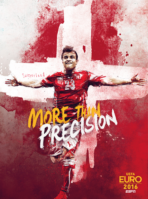 Euro 2016 illustrations Switzerland