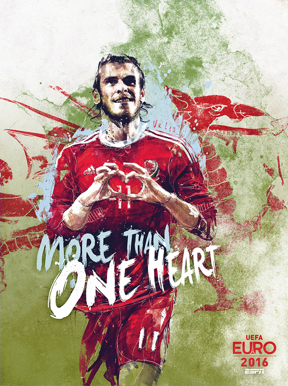 Euro 2016 illustrations Wales