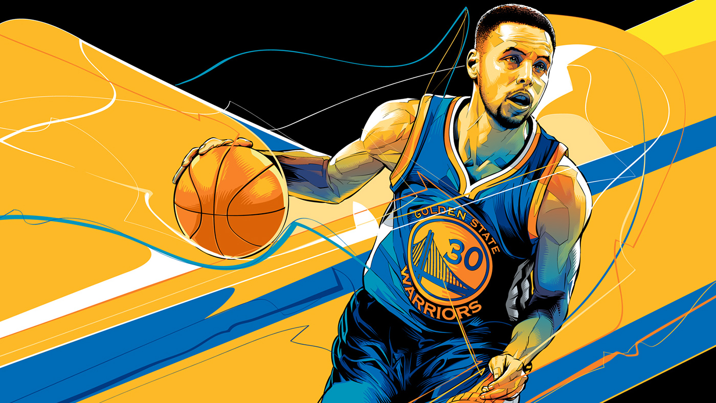 Step Curry of the Golden State Warriors