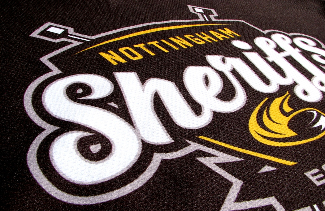 Kit design for the Nottingham Sheriffs by BLU:72 Creative Design Agency Nottingham