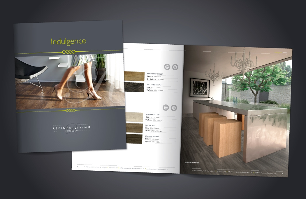 Brochure design for Contemporary Trade Flooring - Designed by BLU:72 Creative, Nottingham