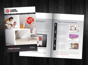 A5 Leaflet design for Flooring Megastore