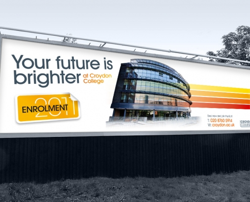 96 sheet advert for Croydon College Enrolment designed by BLU:72 Creative