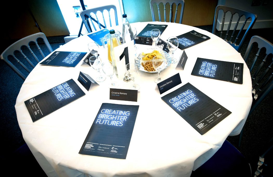 FE Awards Night programmes on a table
